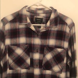 Forever 21 flannel size L worn once